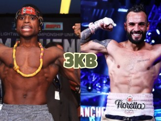 Former WBO champion Isaac Dogboe, featherweight boxer Christopher Diaz