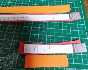 型紙を作り直して裁断する