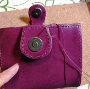 財布右側を縫う