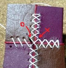 クロスステッチの縫い方