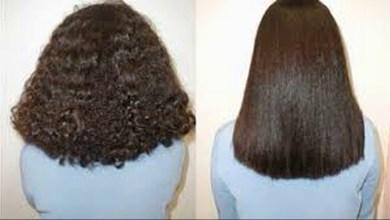 صورة افضل علاج لفرد الشعر المجعد والخشن مع وصفات تغذية الشعر وتقويته