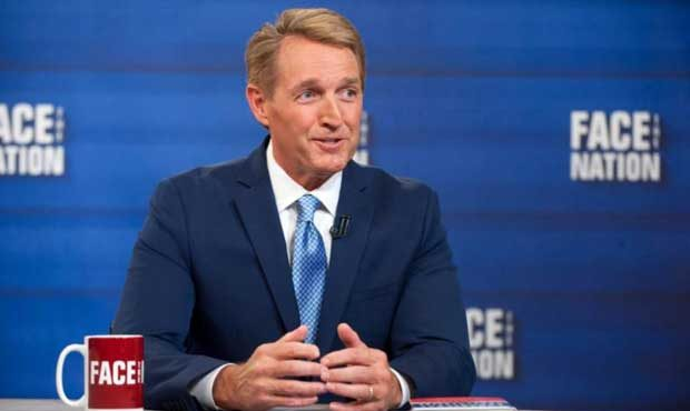 Image result for images of Jeff Flake on Face the Nation, July 30, 2017