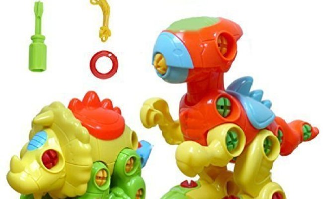 Yixin Set Of 2 Dinosaur Assembly Disassembly Toy And Pull