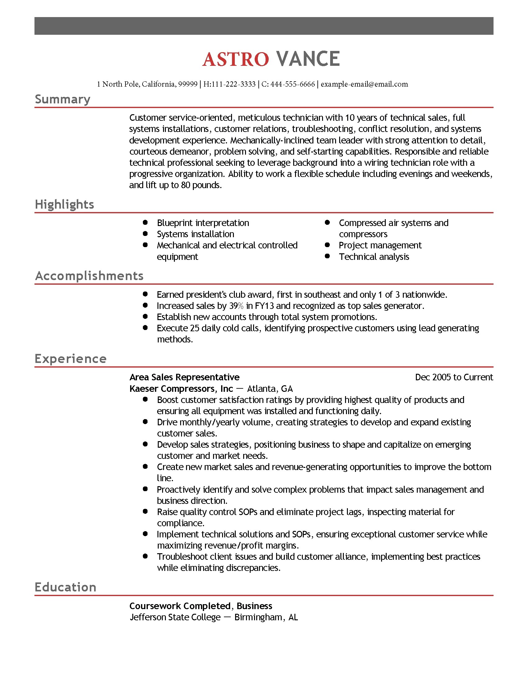How To Email Your Resume Professional Wiring Technician Templates To Showcase Your