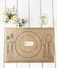 DIY Wedding Place Settings