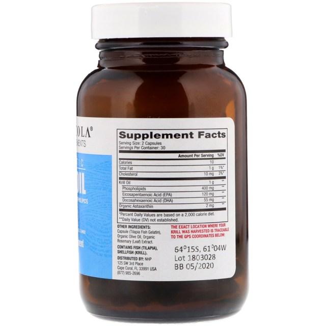 Dr. Mercola All Natural Non-GMO Antarctic Krill Oil - supplement facts