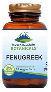 Pure Mountain Botanicals Organic Fenugreek Veggie Capsules - FREE SHIPPING with AMAZON PRIME
