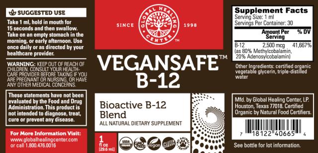 Vegansafe Organic B12 - supplement facts