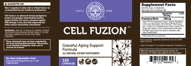 GHC All-Natural Non-GMO Intracellular Antioxidant - supplement facts