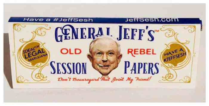 Cannabis Activism Group Selling 'Jeff Sessions' Rolling Papers