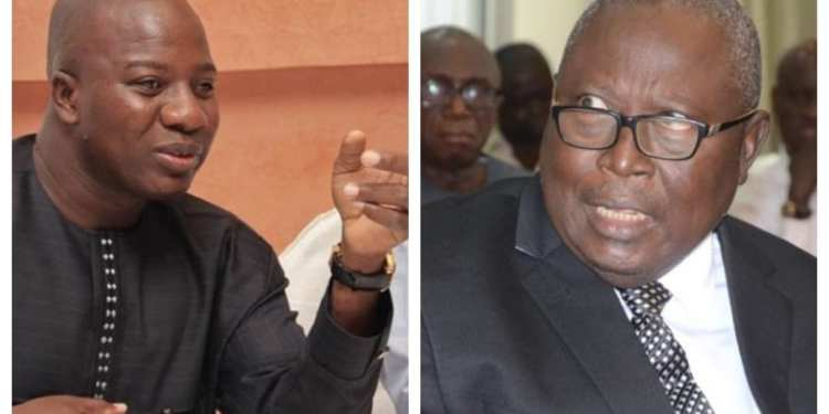 Mr Amidu [R] wants the Speaker of Parliament to release Mr Ayariga for trial