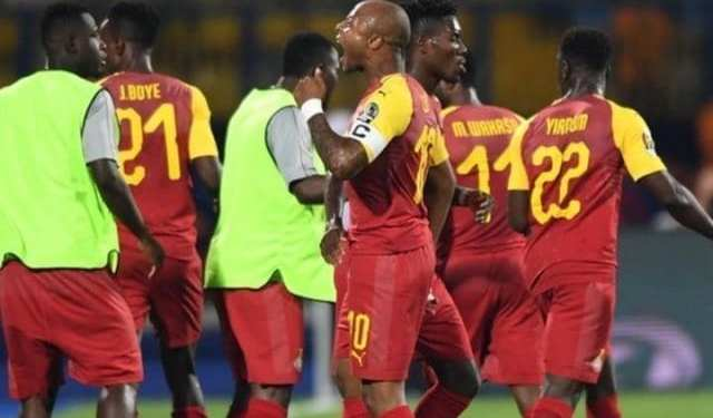 Captain Ayew scored Ghana's first goal in the tournament