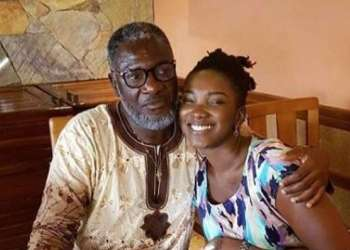 Ebony with her father