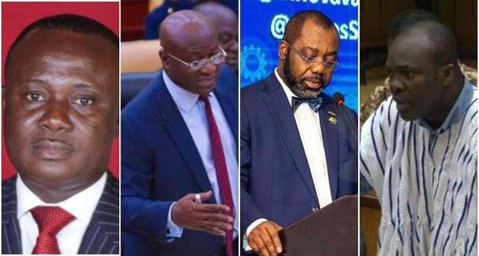 [From L-R] Joe Osei Owusu, Osei Kyei-Mensah-Bonsu, Dr Matthew Opoku Prempeh, Isaac Kwame Asiamah