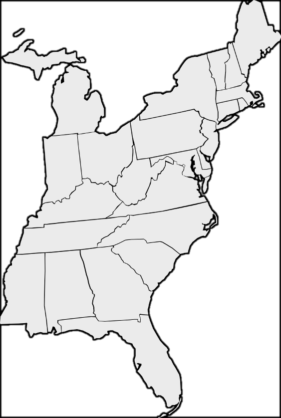 50states is the best source of free maps for the united states of america. Eastern Us Map Teachrock