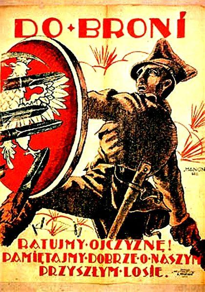Polski plakat rekrutacyjny z lipca 1920