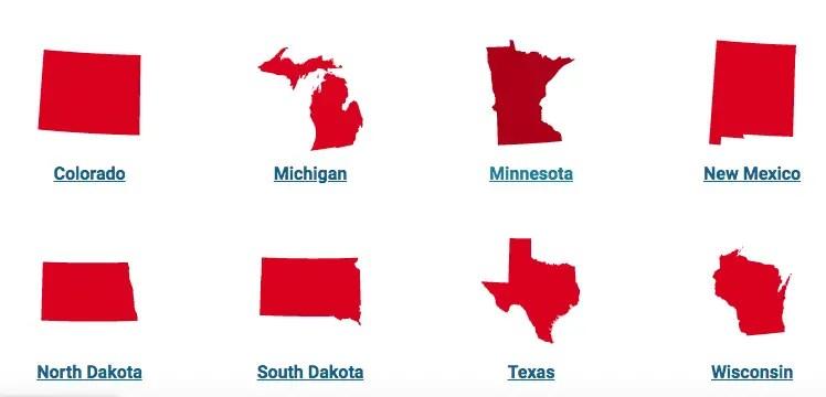 The states Xcel Energy Serves