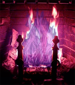 violet flame fireplace