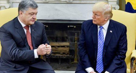 Дональд Трамп і Петро Порошенко у Вашингтоні