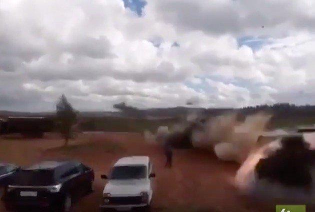 Рсійський вертоліт обстріляв журналістів