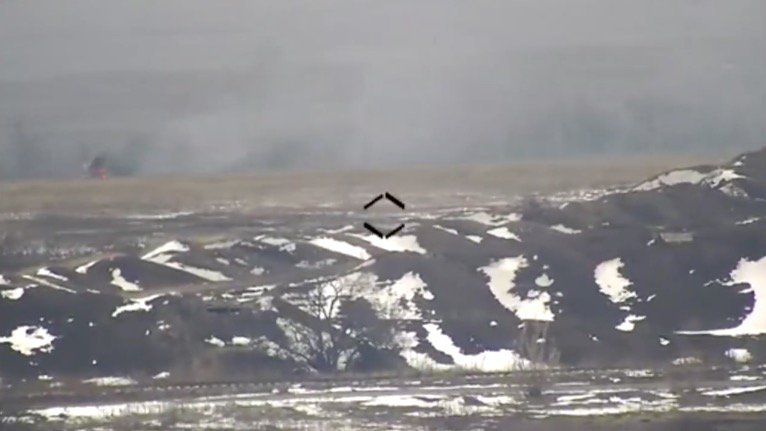 Бійці ЗСУ знищили російську БМП - відео