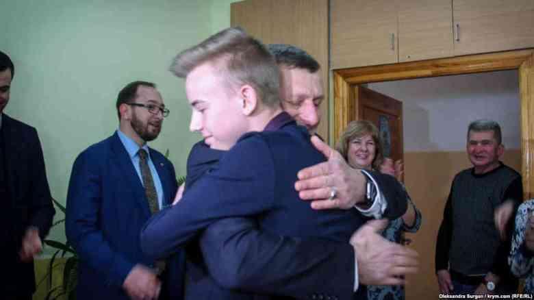 Зустріч Ахтема Чигоза та Богдана Фенечка, учня Львівської школи, 19 березня 2018 року