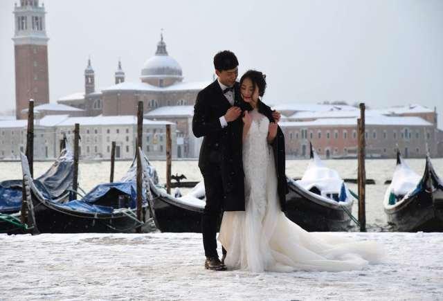 Весілля у засніженій Венеції
