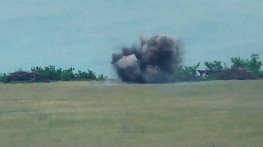 Ракетний удар ЗСУ знищив 2 мінометні розрахунки ворога – відео