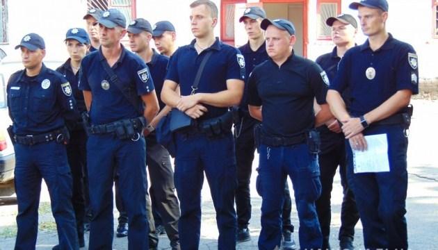 Поліцейські в Умані. Фото прес-служби МВС