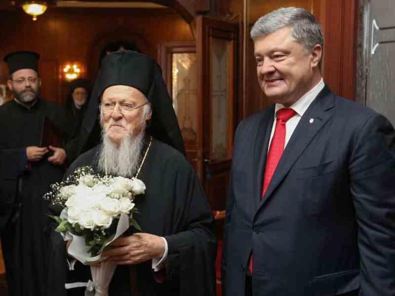 Порошенко і патріарх Варфоломій підписали  угодупро співпрацю