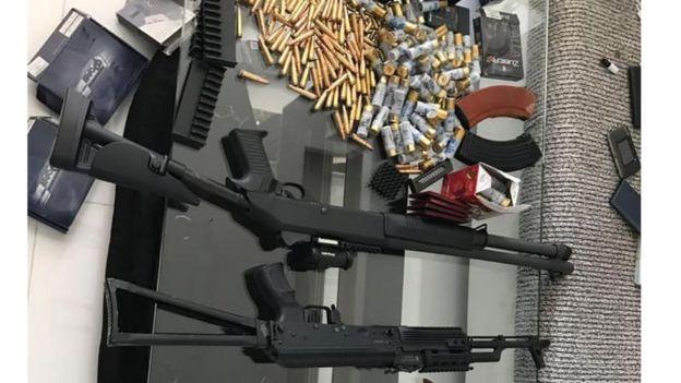 Вилучені зброя та гроші
