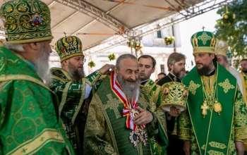 Московська церква  відсвяткувала п'ятиріччя інтронізації митрополита Онуфрія