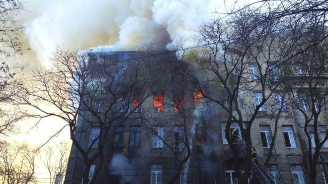 пожежа в коледжі Одеси