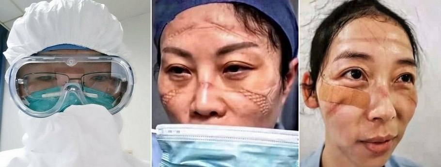 обличчя китайських лікарів