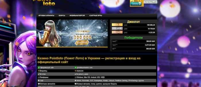Предложения и услуги казино Point Loto