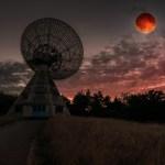 радіотелескоп і Місяць