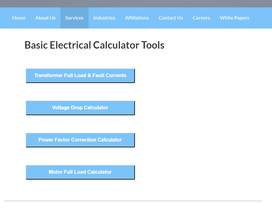 New-Electrical-Calculator-Tool