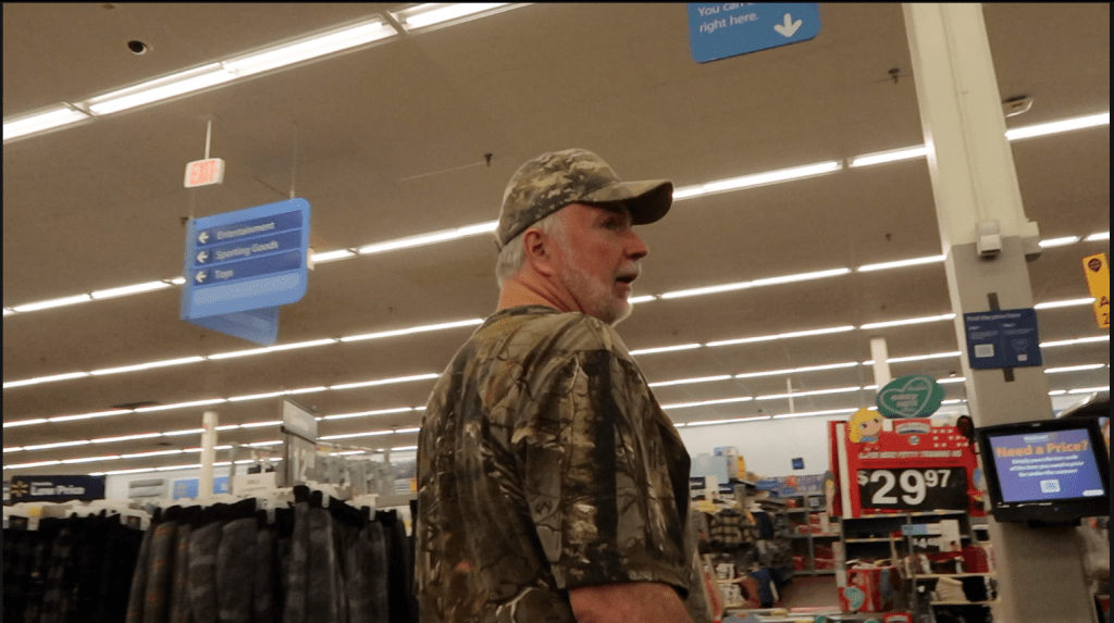 shopping at Walmart