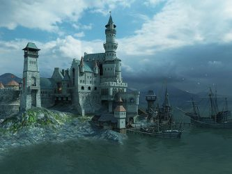 castle medieval fantasy screensaver 3d castles screensavers gothic sea cool famous neuschwanstein screen places port 3planesoft eudownloads