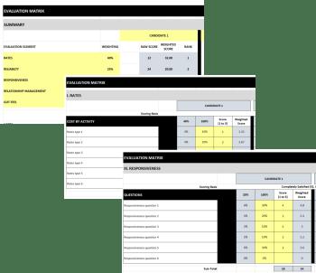 Logistics Service Provider Evaluation Matrix Sample