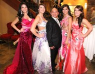 Miss World Canada 2013 contestants and Angelo Siglos