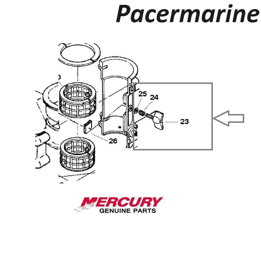 Mercury Mariner 4hp 5hp Steering Lock Kit 2-stroke