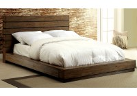 Coimbra Low Profile King Cal Bed Plank Panel Headboard ...