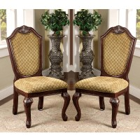 Napa Valley Set of 2 Formal Dining Side Chairs Fabric ...