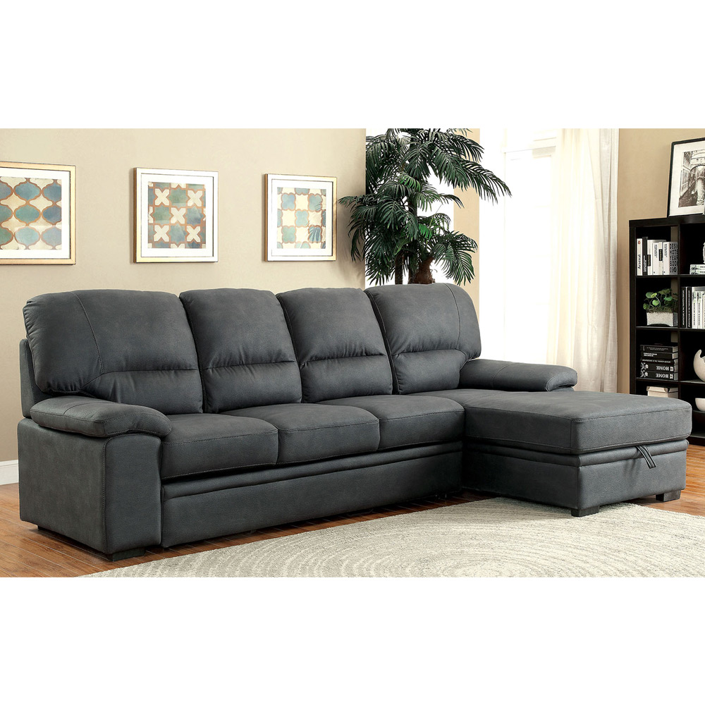 Alcester Sectional Sofa PullOut Sleeper Bed Chaise