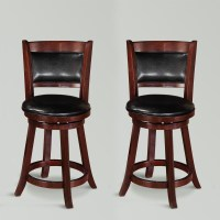 """Cecil 2 pcs 24""""H Swivel Dining Counter Height Stools ..."""