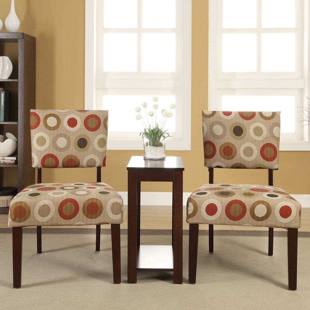 3 PC Occasional Office Home Accent Chair Chairside Side