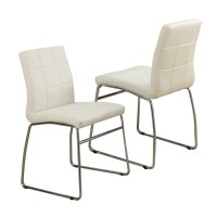 Modern Faux Leather Casual Regular Dining Side Chair ...