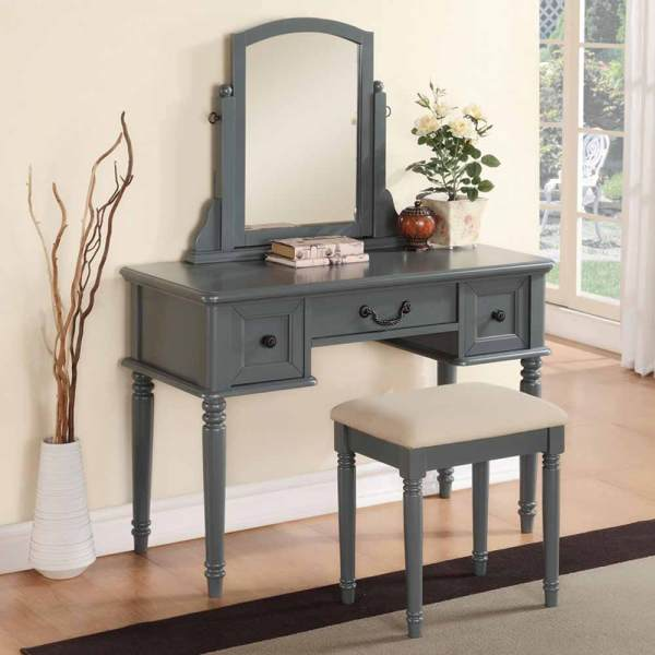 Modern Vanity Makeup Make Table Dresser With 3 Drawers