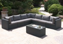 outdoor 8 pcs patio pool sectional